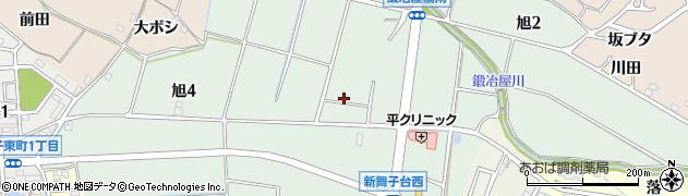 愛知県知多市旭周辺の地図