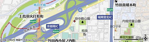 京都府京都市伏見区竹田田中殿町周辺の地図