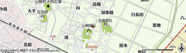 愛知県安城市高木町(鳥居)周辺の地図