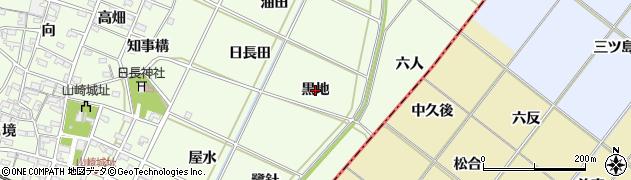 愛知県安城市山崎町(黒地)周辺の地図