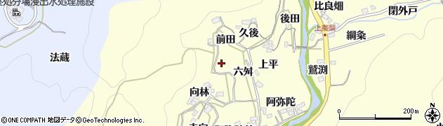 愛知県岡崎市秦梨町(西ノ入)周辺の地図
