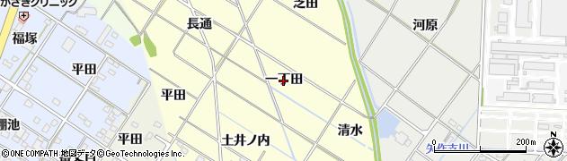 愛知県岡崎市東本郷町(一丁田)周辺の地図