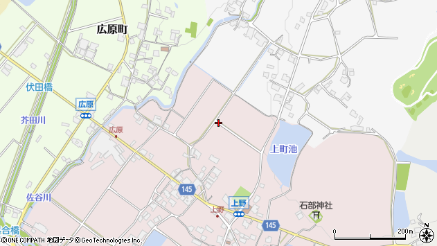 〒675-2434 兵庫県加西市上野町の地図