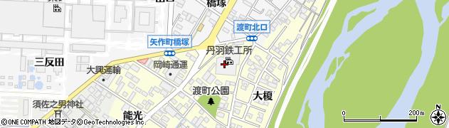 愛知県岡崎市渡町(薬師畔)周辺の地図