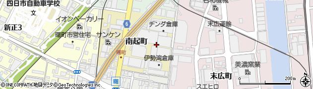 三重県四日市市南起町周辺の地図