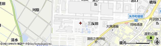 愛知県岡崎市矢作町(割出)周辺の地図