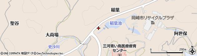 愛知県岡崎市高隆寺町(坂ケ元)周辺の地図
