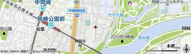 愛知県岡崎市板屋町周辺の地図