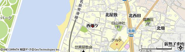 愛知県知多市新舞子(西畑ケ)周辺の地図