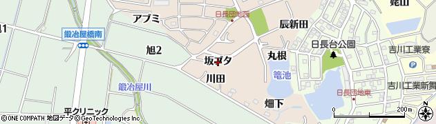 愛知県知多市日長(坂ブタ)周辺の地図