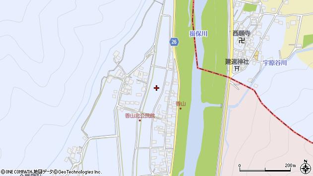 〒679-4302 兵庫県たつの市新宮町香山の地図