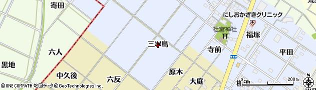 愛知県岡崎市富永町(三ツ島)周辺の地図