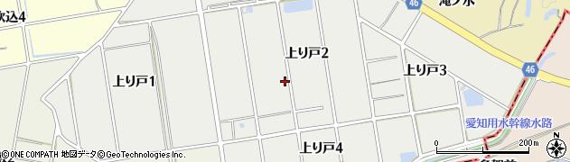 愛知県知多市上り戸周辺の地図