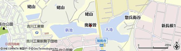 愛知県知多市新舞子(奥新曽)周辺の地図