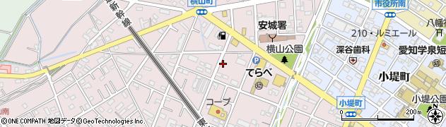 愛知県安城市横山町(浜畔上)周辺の地図
