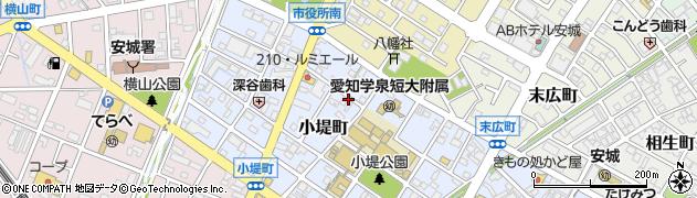 愛知県安城市小堤町周辺の地図