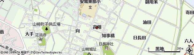 愛知県安城市高木町(高畑)周辺の地図