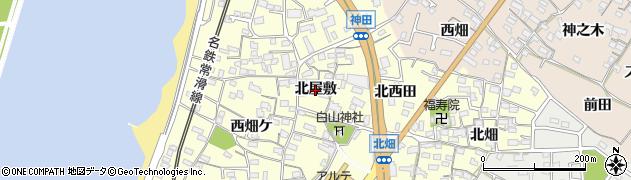 愛知県知多市新舞子(北屋敷)周辺の地図