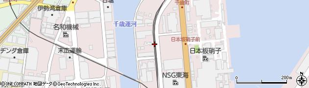 三重県四日市市千歳町周辺の地図