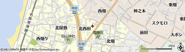 愛知県知多市新舞子(廻間)周辺の地図