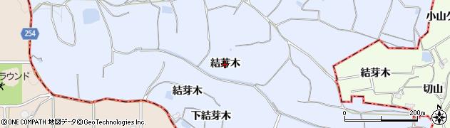 愛知県知多市佐布里(結芽木)周辺の地図