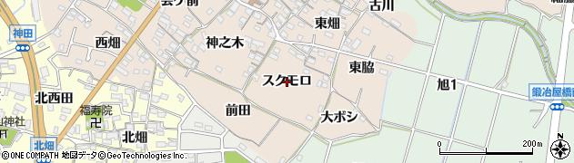 愛知県知多市日長(スクモロ)周辺の地図