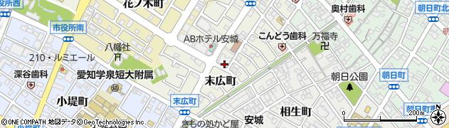 愛知県安城市末広町周辺の地図