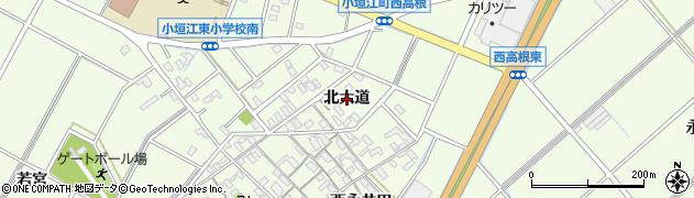 愛知県刈谷市小垣江町(北大道)周辺の地図