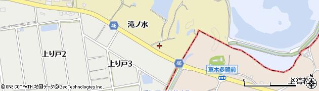 愛知県知多市岡田(馬草原)周辺の地図