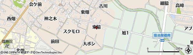 愛知県知多市日長(東脇)周辺の地図