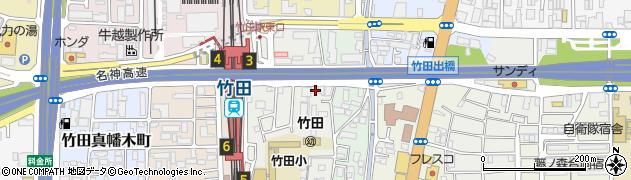 京都府京都市伏見区竹田桶ノ井町周辺の地図