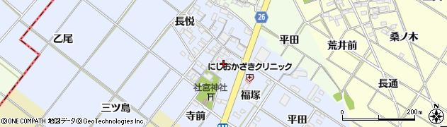 愛知県岡崎市富永町(社本)周辺の地図