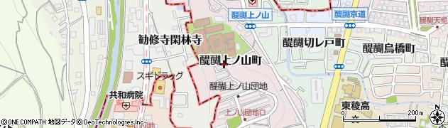 京都府京都市伏見区醍醐上ノ山町周辺の地図
