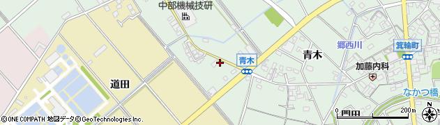 愛知県安城市箕輪町(権現)周辺の地図