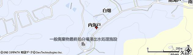 愛知県岡崎市才栗町(内海戸)周辺の地図