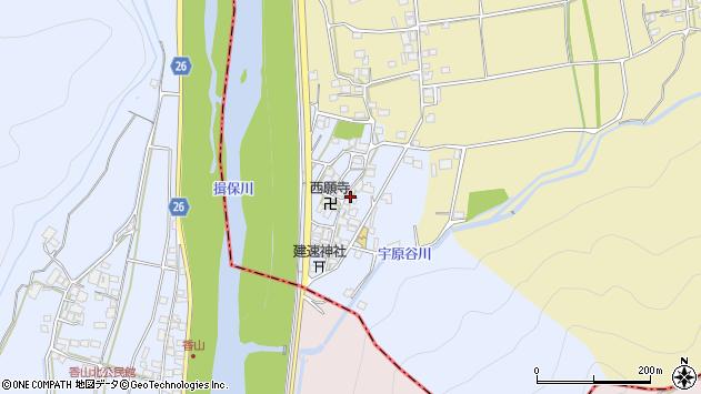〒671-2536 兵庫県宍粟市山崎町下宇原の地図
