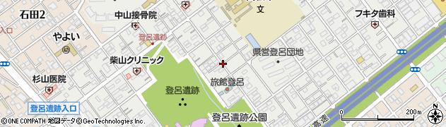 静岡県静岡市駿河区登呂周辺の地図