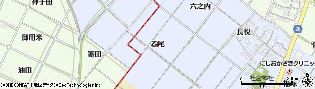 愛知県岡崎市富永町(乙尾)周辺の地図