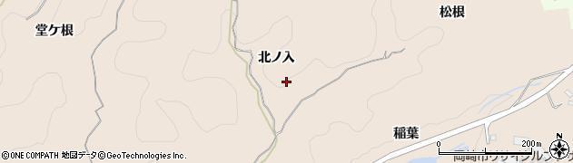 愛知県岡崎市高隆寺町(北ノ入)周辺の地図