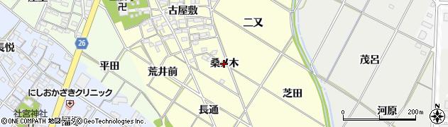 愛知県岡崎市東本郷町(桑ノ木)周辺の地図