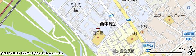 静岡県静岡市駿河区西中原周辺の地図