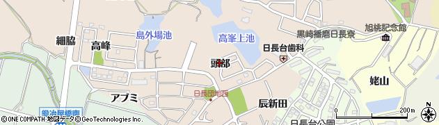 愛知県知多市日長(頭部)周辺の地図