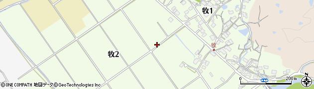 滋賀県大津市牧周辺の地図