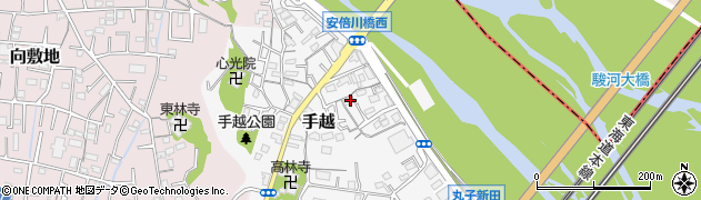 静岡県静岡市駿河区手越周辺の地図