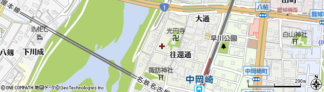 愛知県岡崎市八帖町周辺の地図