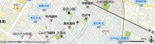 愛知県安城市朝日町周辺の地図