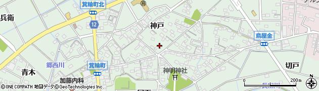 愛知県安城市箕輪町(神戸)周辺の地図