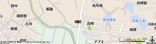 愛知県知多市日長(細脇)周辺の地図
