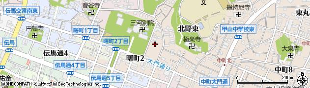 愛知県岡崎市中町(北野)周辺の地図