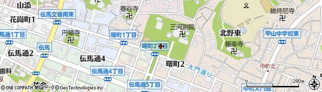 愛知県岡崎市中町(野添)周辺の地図